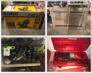 Home Depot Overstock and Return Auction - Tools, Lighting, Lawn and Garden