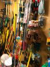 Large lot of yard implements, gardening tools, etc.
