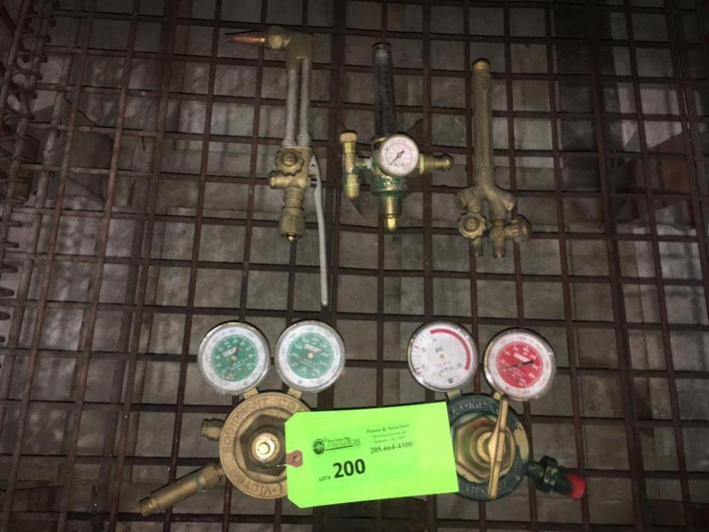 Victor Cutting Torch Handle Oxygen Acetylene Regulators Flow