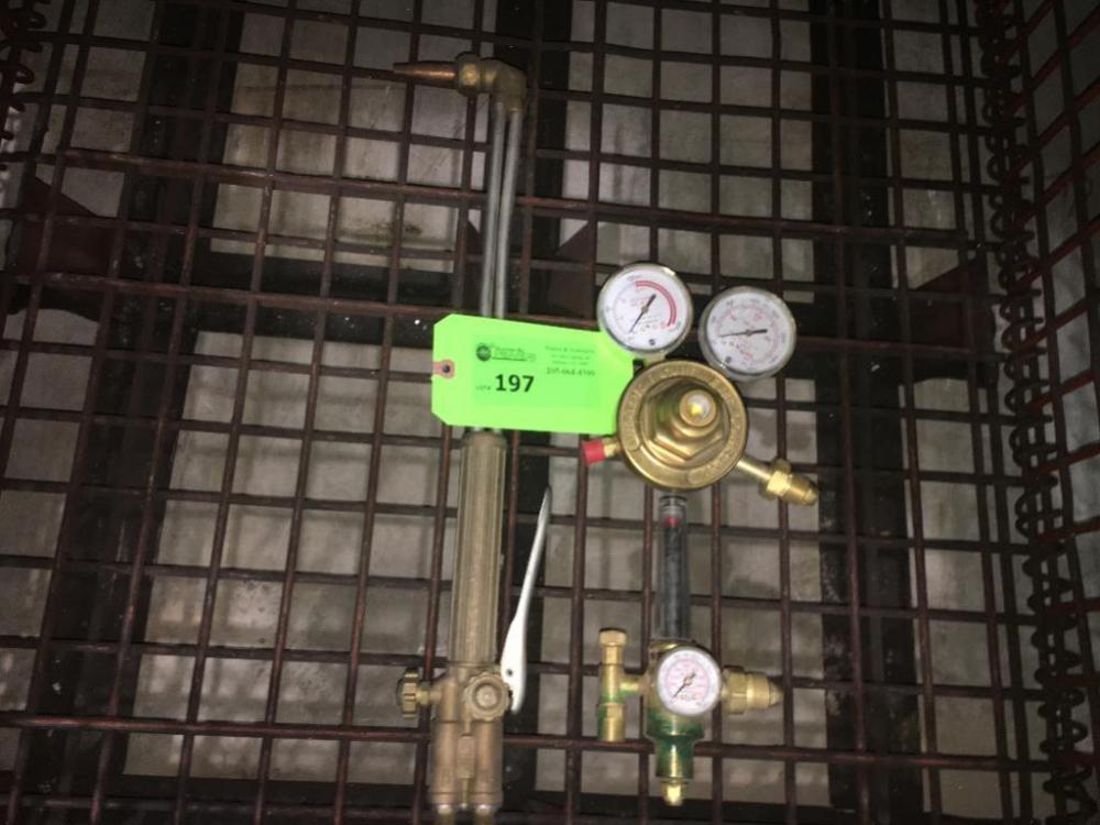 Victor Cutting Torch Handle Acetylene Regulator Flow Meter Wire
