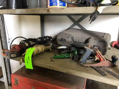 Lot- Worklight, Hot Glue Gun, Electric Knife, Planer and misc