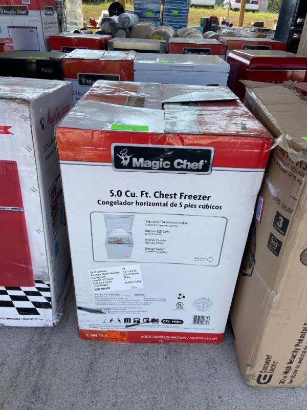 Magic Chef 5.0 Cu Ft Chest Freezer