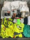 "SAFETY SUPPLIES"":VEST,GLOVES,EAR PLUGS, RSPIRATORS,TYVEK SUITS,ETC"