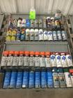 50 OR MORE AEROSOL SPRAY CANS OF MISCELLANEOUS PAINTS,FLUIDS,ETC.