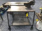 3ft Wide Rolling Work Cart with Table Vise