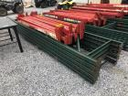 15ft Tall Pallet Racking - (5) Uprights with Side Railing