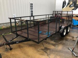 16ft Tandem Axle Utility Trailer with Ramps