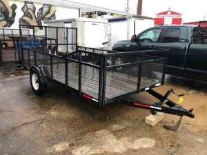 12ft Single Axle Utility Trailer with Ramps