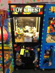 Toy Chest Prize Claw Arcade Game