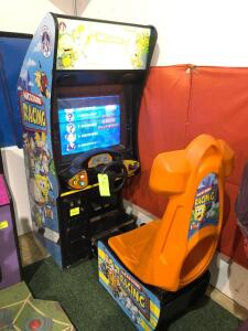 "Chicago Gaming Company Inc. ""Nicktoons Racing"" Arcade Game - needs some work"