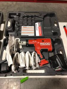 New Ridgid Cordless RP330 Pressing Tool with Pro Press System Attachments - 18V with Charger