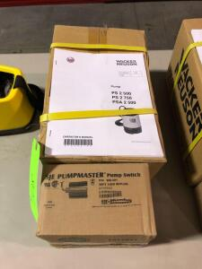 New Wacker Neuson PS2-500 Submersible Pump with SJE Pumpmaster Pump Switch