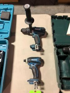 New Makita 18V XDT04 Drill and 18V LXPH03 Concrete Drill - No batteries