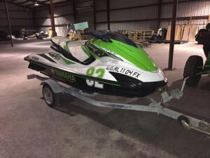 UPDATED INFORMATION! 90.6 hours! 2016 Yamaha SVHO Supercharged Waverunner with trailer