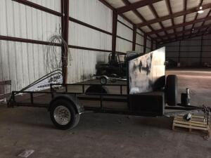 18' Motorcycle trailer with loading ramps