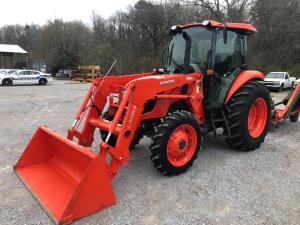Kubota M7060 Enclosed Cab Tractor with Front End Loader