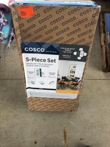 Cosco 5pc Folding Table and Chair Set