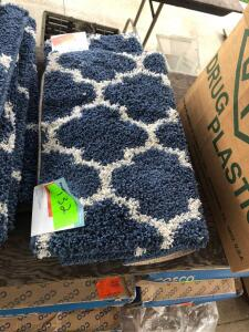 (4) 2ftx3ft Trellis Scatter Rugs