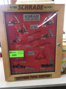 Schrade Knife Display with contents