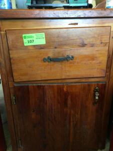 Stand Alone Wooden Cabinet - No contents