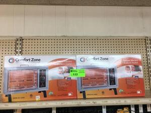 Top Shelf - (2) Comfort Zone Electric heaters