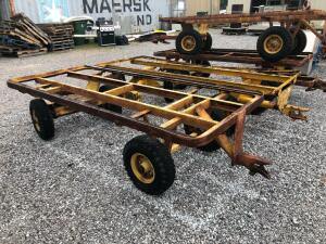 (2) Yellow Warehouse 4-Wheel Wagons - 4ft Wide, 9ft Long
