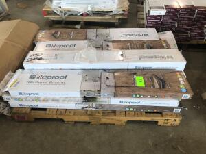 Pallet - Lifeproof Vinyl Plank Flooring - Assorted Colors