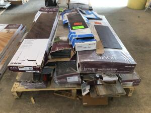Pallet - Assorted Vinyl Plank, Laminate and (1) Box of Bamboo Flooring
