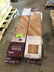 (8) Boxes - Home Decorators 4mm Vinyl Plank Flooring - True Cherry