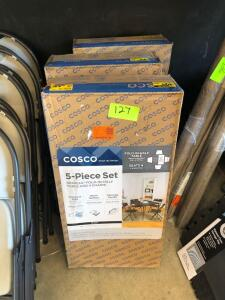 (3) Sets - Cosco 5pc Table and Chair Sets