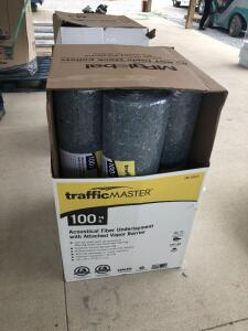 (7) Rolls of Traffic Master 100sq ft Fiber Underlayment