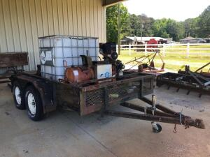 Tandem Axle Trailer with Sprayer System and Tank