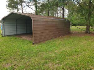 Butler type Carport 21' Open on one end