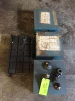 Floor Lot - Boxes with milling accessories, clamp table