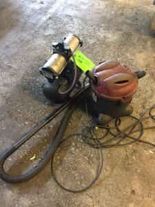 Floor Lot - Small shop vac, Midwest Model AA001, Bootstrap Compressor 150 PSI