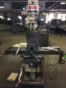 Birmingham Digital Readout Turret Milling Machine BPS-1649