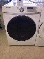 Samsung Electric Dryer with Steam Sanitize - Bottom Storage Drawer - White - 7.5 Cu Ft Model DVE45R6100/A3