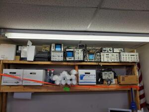 Waveform analyzers, ballasts, Video Generators, Security Cameras, Styraphone cups