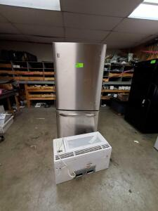 GE Stainless Damaged Fridge/Freezer