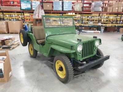 1946 Willys Jeep 4 x 4 Manual Transmission, Odometer Shows 7,523 miles, new top VIN CJ2A29465