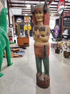 "Wooden Indian Statue - 86"" Tall"
