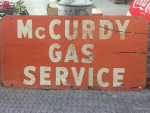 "McCurdy Gas Sign 48"" x 24"""
