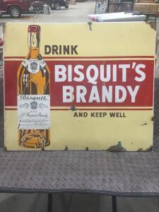 "Bisquits Brandy Sign 18"" x 12"""