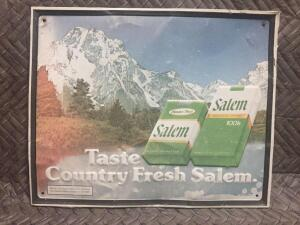 "Salem Cigarette Sign 21"" x 17"""