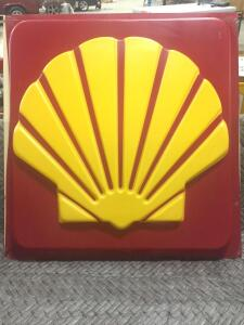 "Plastic Shell Sign 35"" x 37"""