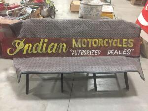 "Indian Motorcycle Sign 72"" x 10"""
