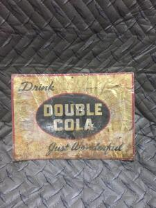 "Double Cola Sign 10"" x 7"""