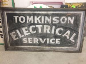 "Tomkinson Electrical Double Sided Sign 60"" x 35"""