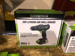 New Genesis 20V Lithium Drill and Driver with Charger