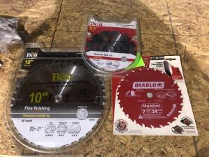 Lot - New Assorted Saw Blades
